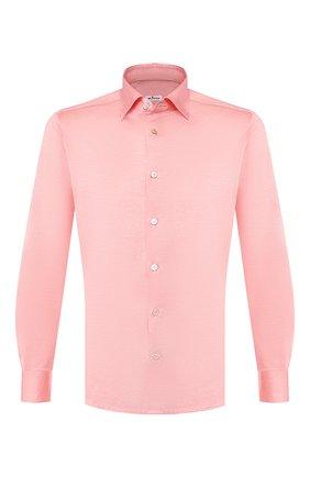 Мужская хлопковая рубашка KITON кораллового цвета, арт. UMCNERH0683406   Фото 1