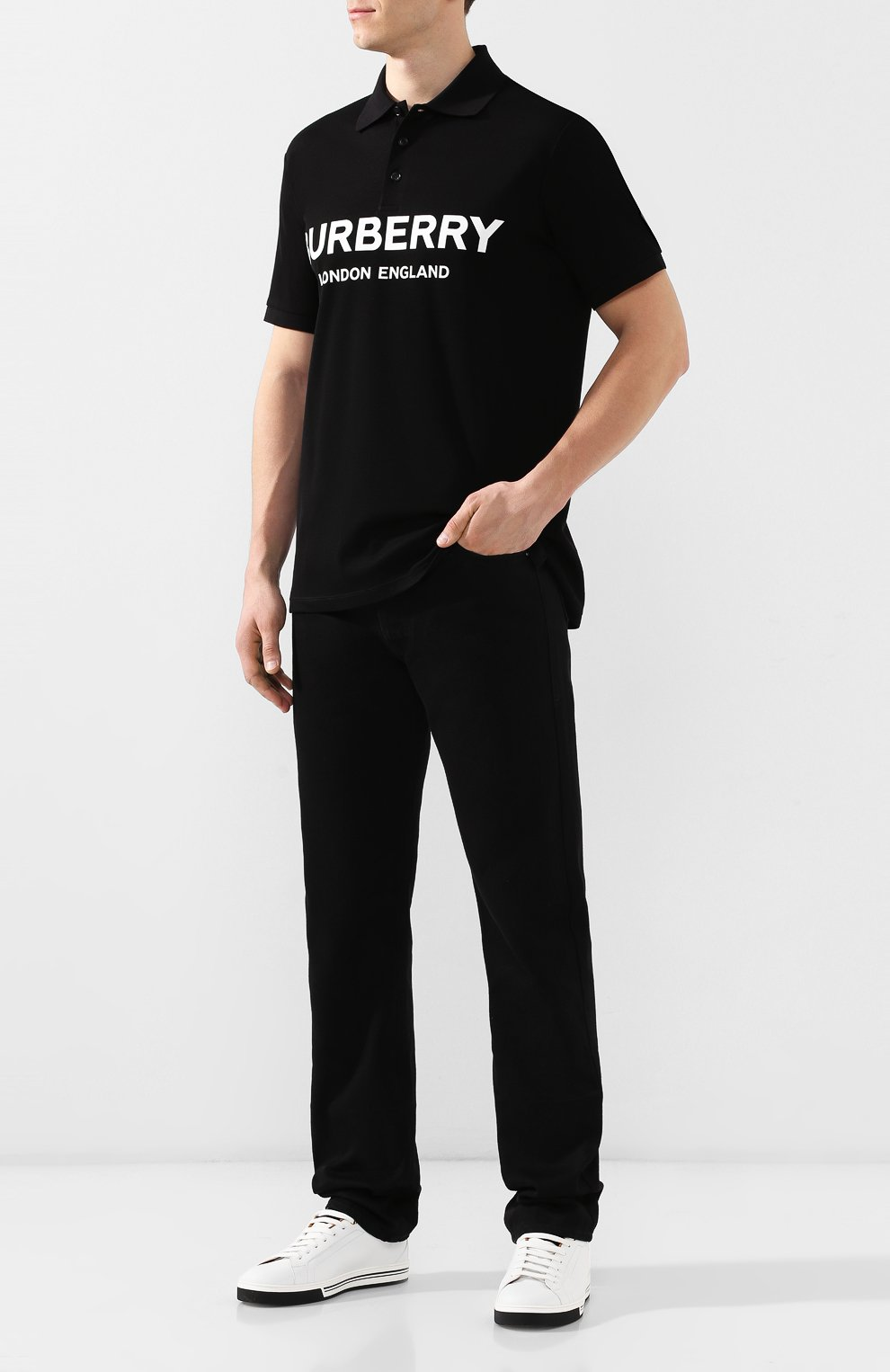 Мужские джинсы BOTTEGA VENETA черного цвета, арт. 566888/VKBD0   Фото 2