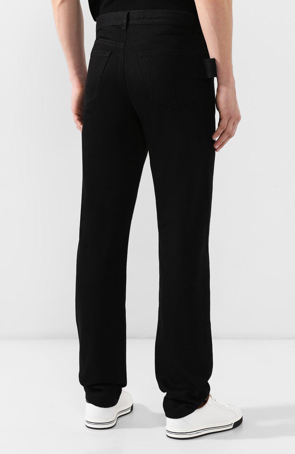 Мужские джинсы BOTTEGA VENETA черного цвета, арт. 566888/VKBD0   Фото 4