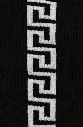 Мужские хлопковые носки VERSACE черного цвета, арт. ICZ0003/IK0103 | Фото 2