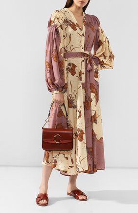 Женская сумка chloé c small CHLOÉ коричневого цвета, арт. CHC19SS191A37   Фото 2
