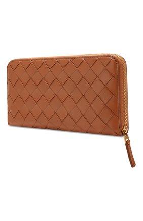 Женские кожаный кошелек BOTTEGA VENETA бежевого цвета, арт. 577775/V00BH   Фото 2