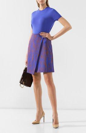 Женская юбка BOSS голубого цвета, арт. 50411284 | Фото 2
