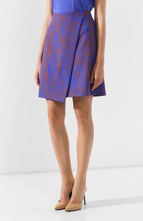 Женская юбка BOSS голубого цвета, арт. 50411284 | Фото 3