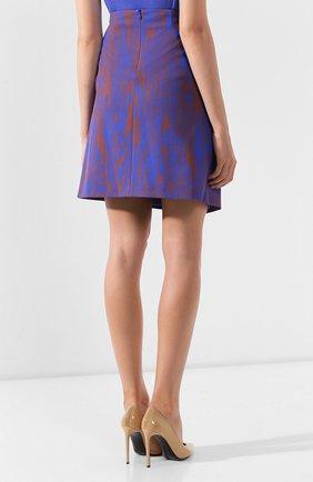 Женская юбка BOSS голубого цвета, арт. 50411284 | Фото 4