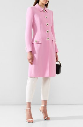 Женское шерстяное пальто DOLCE & GABBANA розового цвета, арт. F0U20Z/FU2TZ | Фото 2