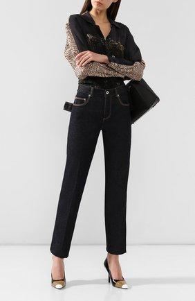 Женские джинсы BOTTEGA VENETA синего цвета, арт. 577650/VKBC0 | Фото 2