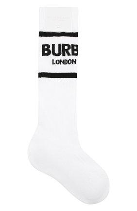 Детские хлопковые носки BURBERRY белого цвета, арт. 8009428 | Фото 1