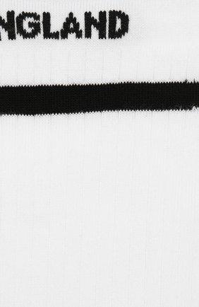 Детские хлопковые носки BURBERRY белого цвета, арт. 8009428 | Фото 2