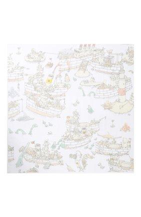 Детского хлопковая пеленка ATELIER CHOUX белого цвета, арт. CARRE UP F0R AIR | Фото 2