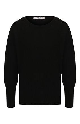 Женская пуловер из смеси шерсти и кашемира VALENTINO черного цвета, арт. SB3KC04F4QY | Фото 1