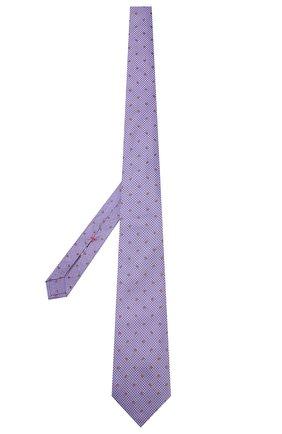 Шелковый галстук Isaia фиолетового цвета | Фото №2