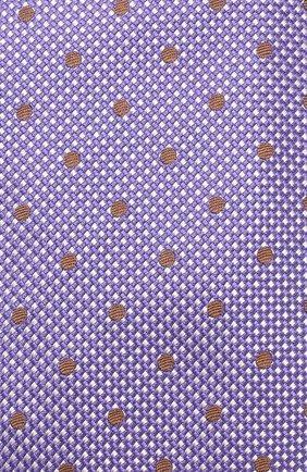 Шелковый галстук Isaia фиолетового цвета | Фото №3