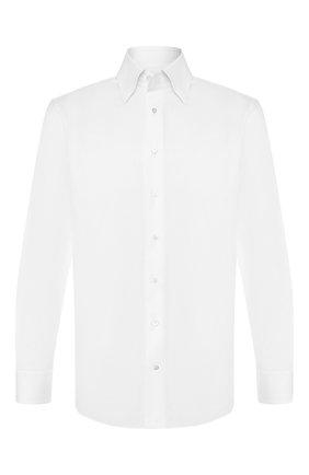 Мужская хлопковая сорочка ZILLI белого цвета, арт. MFS-C1507-30111/RZ01 | Фото 1