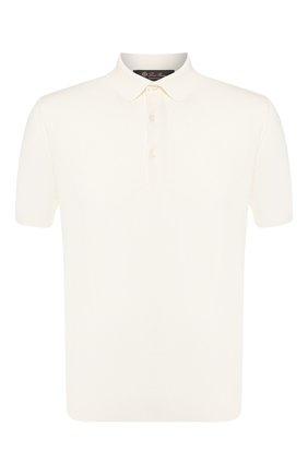 Мужское хлопковое поло LORO PIANA белого цвета, арт. FAI6175   Фото 1