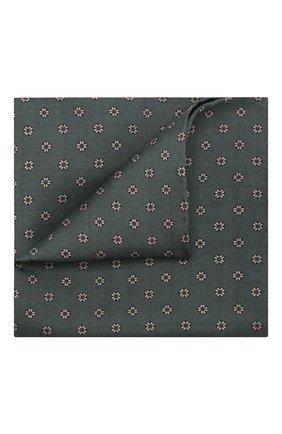 Мужской шелковый платок BRIONI зеленого цвета, арт. 071000/0840Z | Фото 1