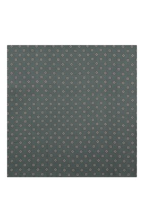 Мужской шелковый платок BRIONI зеленого цвета, арт. 071000/0840Z | Фото 2