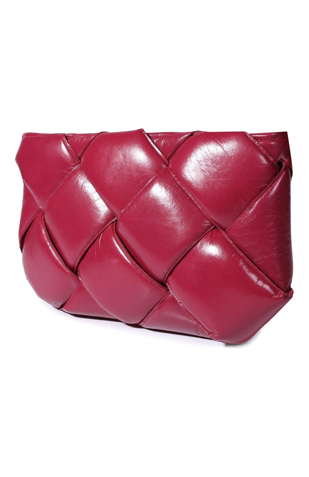 Клатч Bottega Veneta фуксия цвета | Фото №2