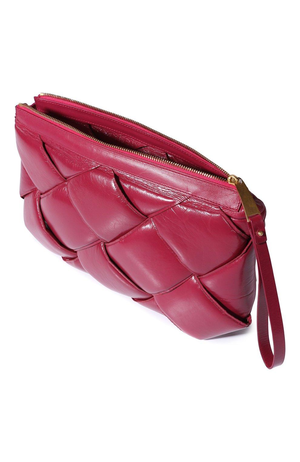 Клатч Bottega Veneta фуксия цвета | Фото №3