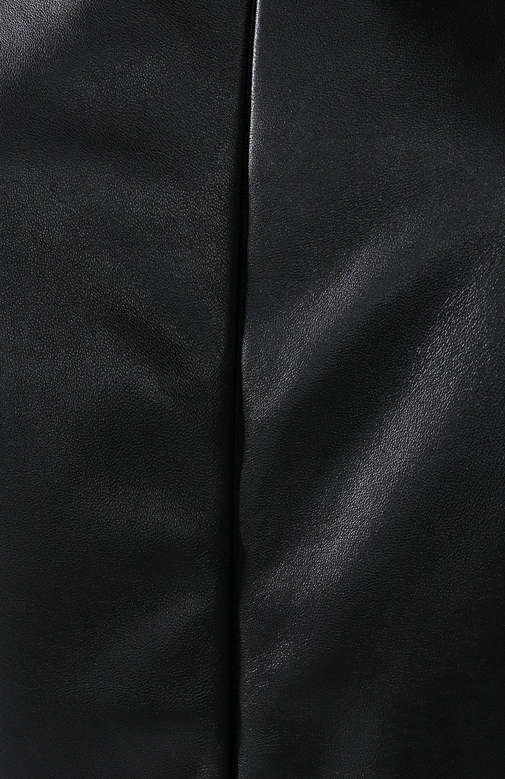 Кожаное платье Bottega Veneta черное   Фото №4