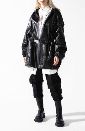 Кожаная куртка Bottega Veneta черная | Фото №1