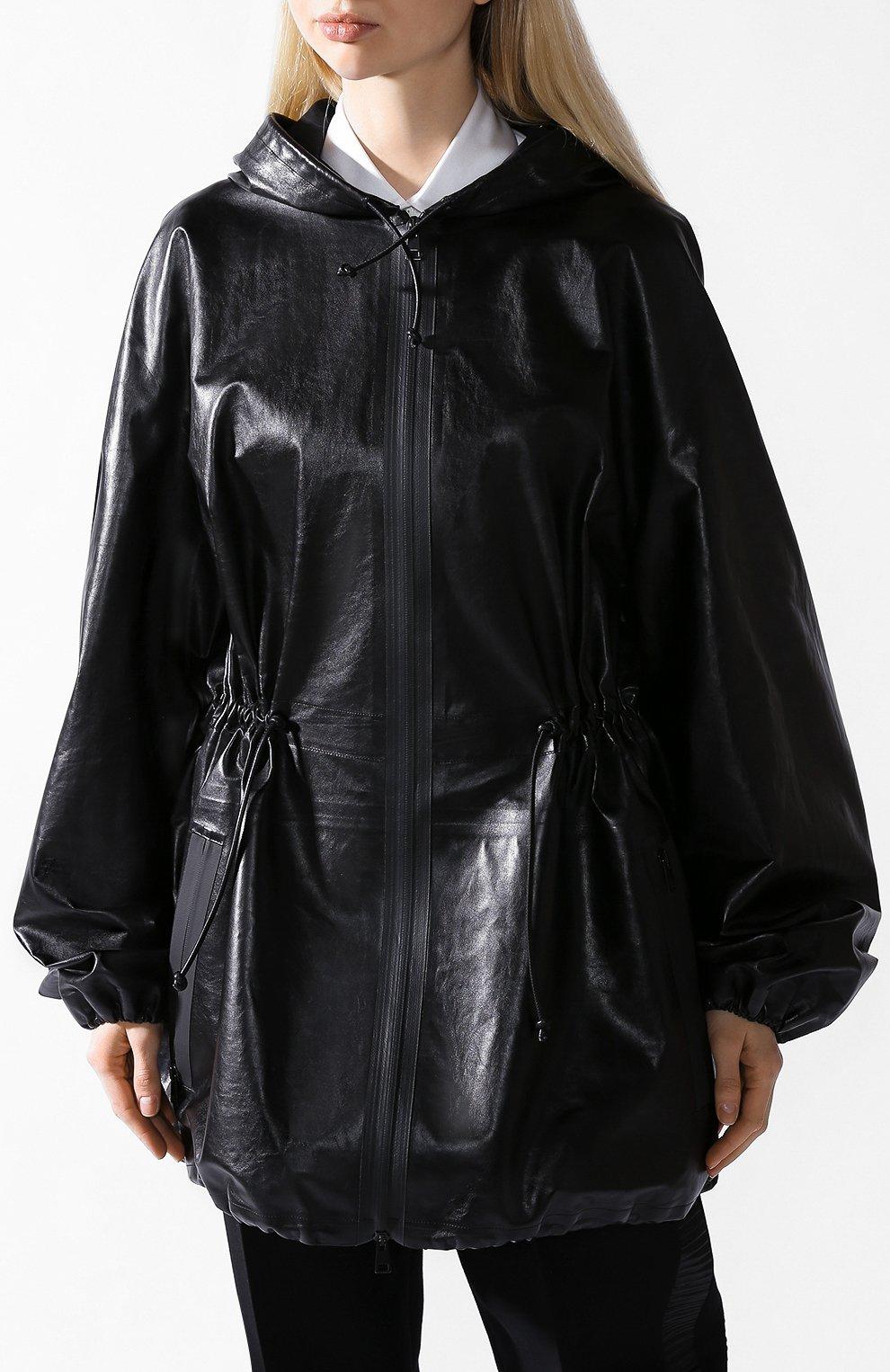 Кожаная куртка Bottega Veneta черная | Фото №2