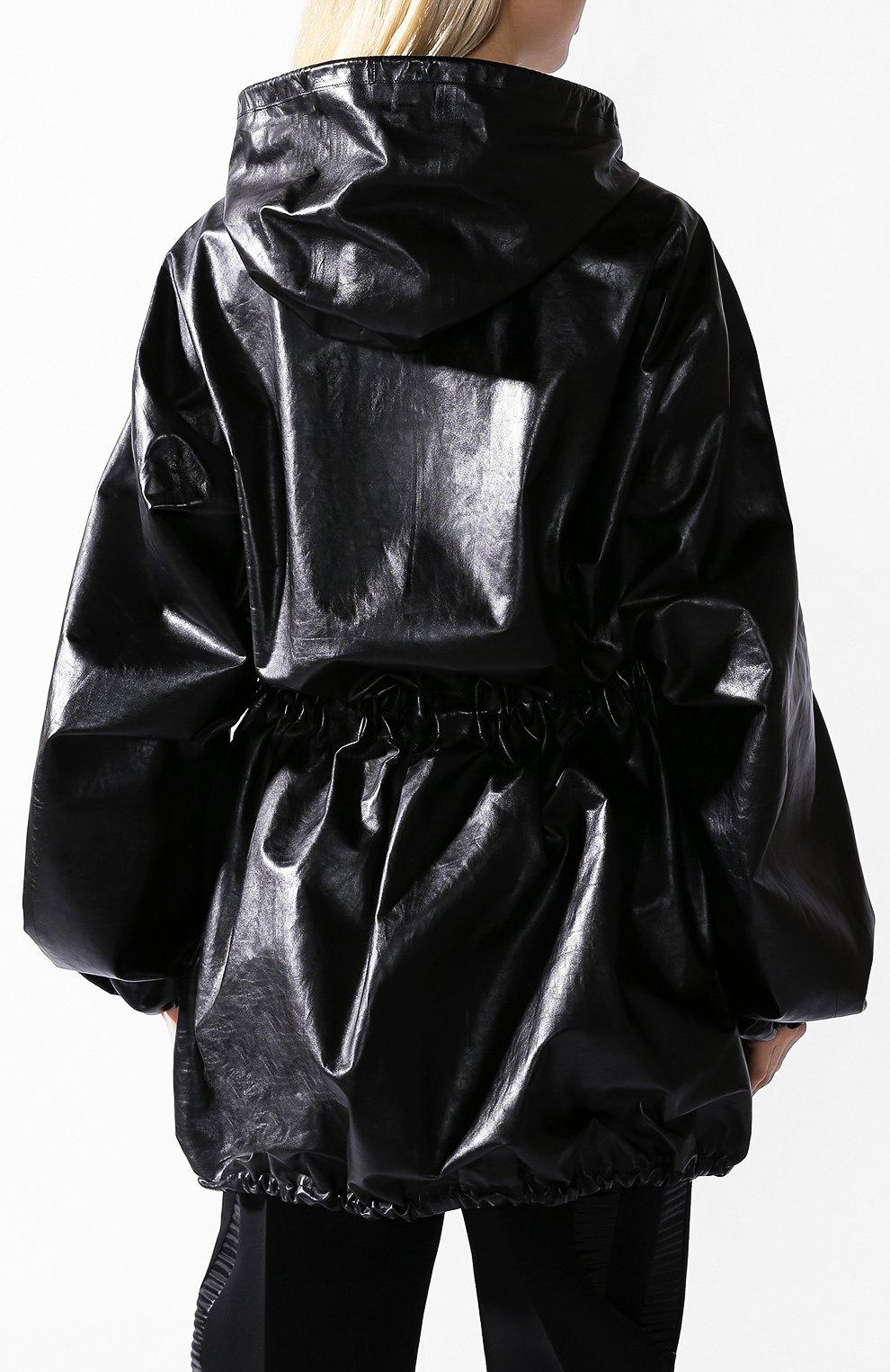 Кожаная куртка Bottega Veneta черная | Фото №3