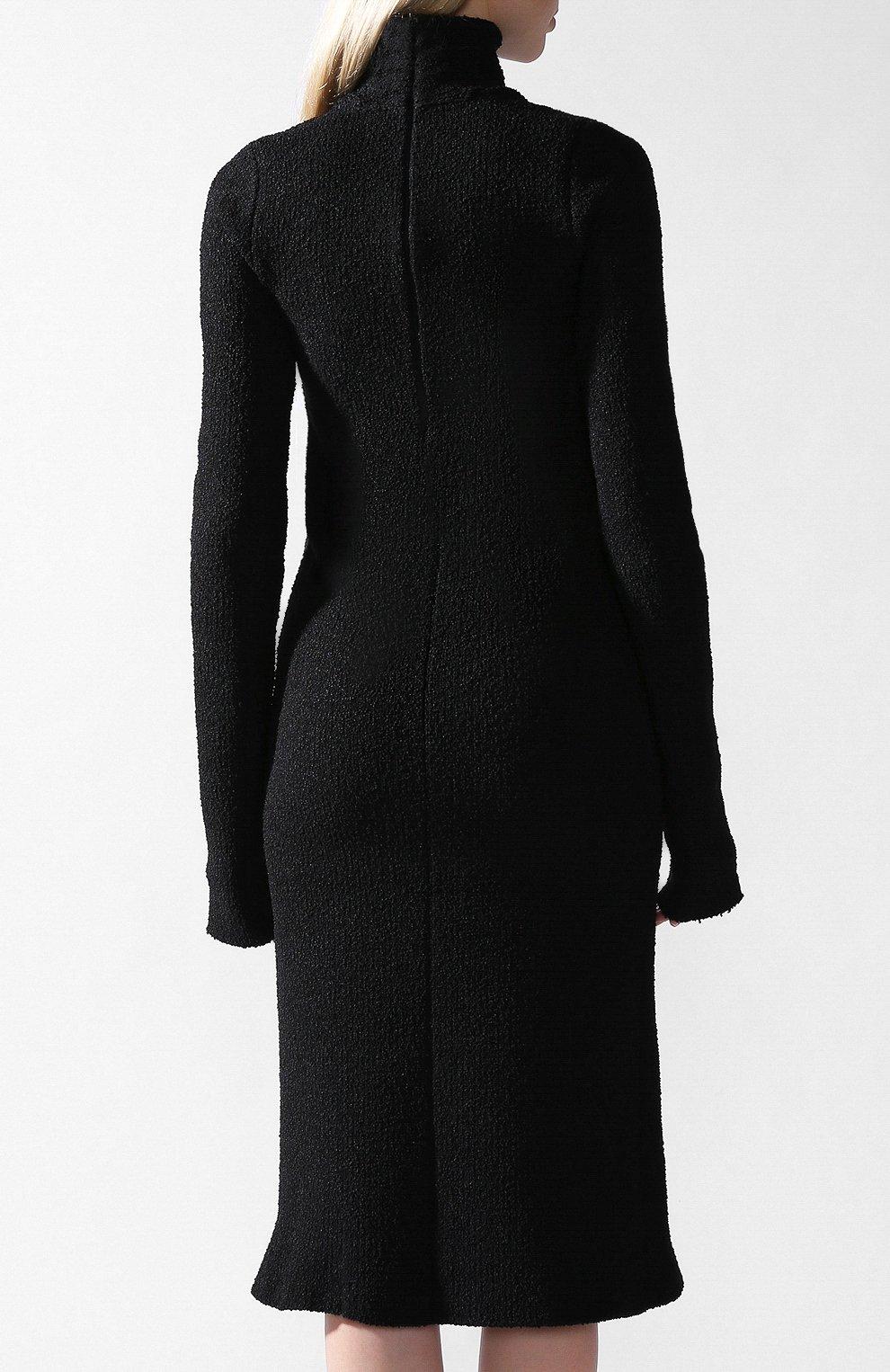 Платье Bottega Veneta черное | Фото №3