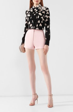 Женские шорты из смеси шерсти и шелка VALENTINO белого цвета, арт. SB3RF0T51CF | Фото 2