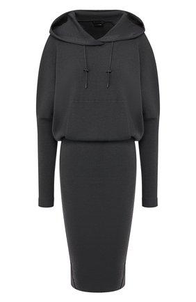 Женское кашемировое платье TOM FORD серого цвета, арт. ACK182-YAX179 | Фото 1