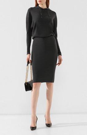 Женское кашемировое платье TOM FORD серого цвета, арт. ACK182-YAX179 | Фото 2