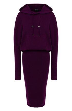 Женское кашемировое платье TOM FORD сиреневого цвета, арт. ACK182-YAX179 | Фото 1