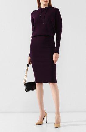 Женское кашемировое платье TOM FORD сиреневого цвета, арт. ACK182-YAX179 | Фото 2