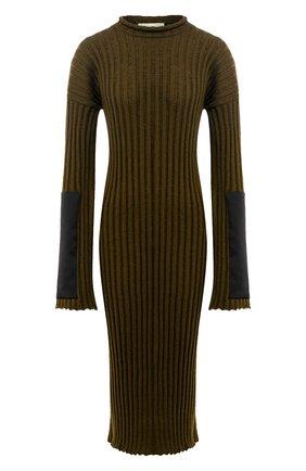 Женское кашемировое платье BOTTEGA VENETA зеленого цвета, арт. 571063/VKBB1 | Фото 1