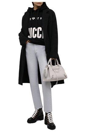 Женские кожаные ботинки trip GUCCI черного цвета, арт. 481156/DKS30 | Фото 2