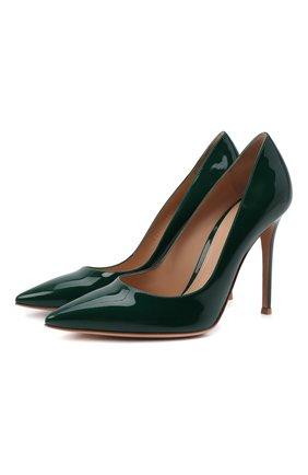 Женские кожаные туфли gianvito 105 GIANVITO ROSSI зеленого цвета, арт. G28470.15RIC.VERLEAF | Фото 1