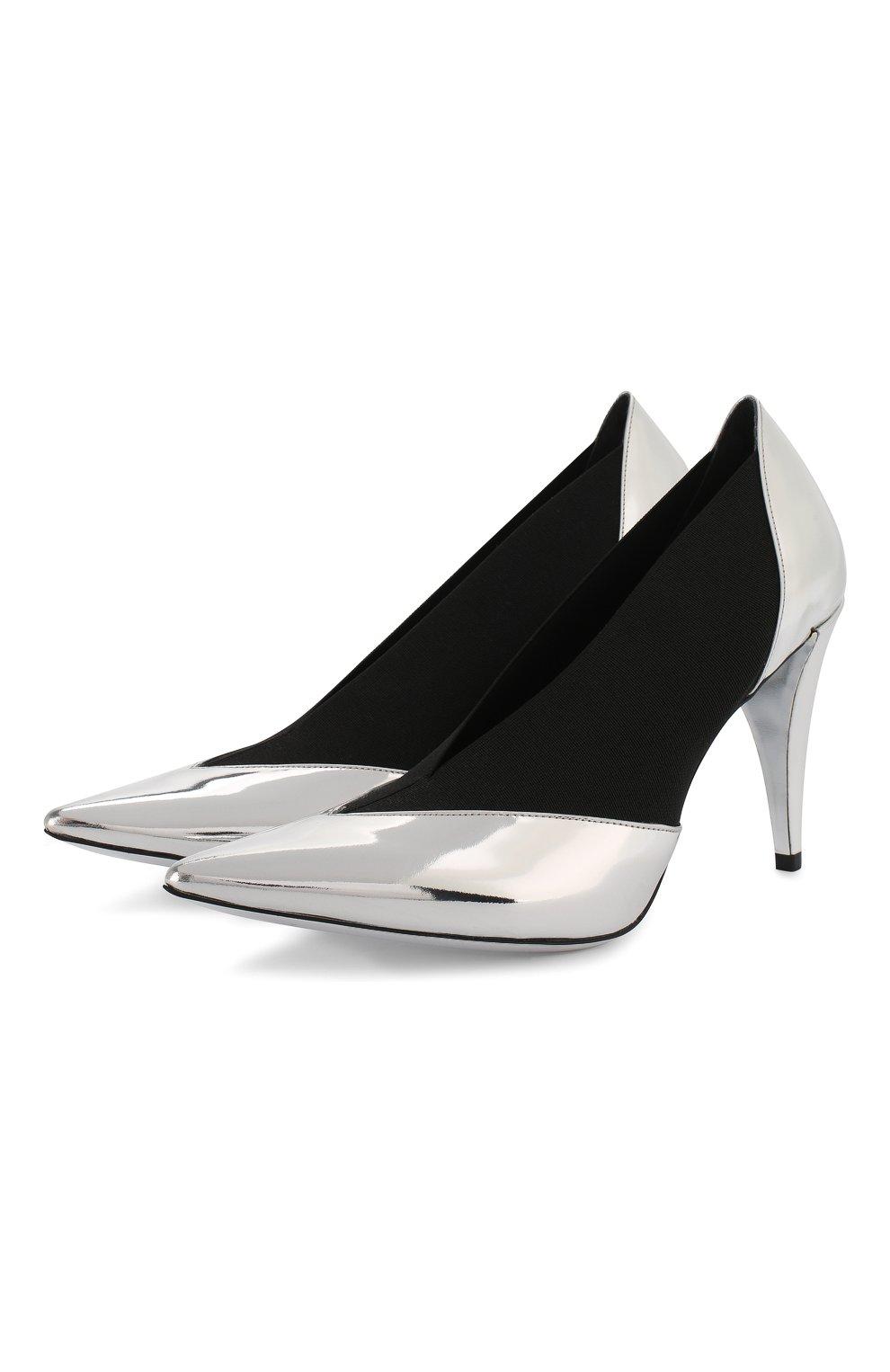 Женские комбинированные туфли GIVENCHY серебряного цвета, арт. BE400YE0C9 | Фото 1
