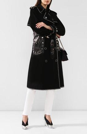 Женские комбинированные туфли GIVENCHY серебряного цвета, арт. BE400YE0C9 | Фото 2
