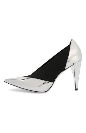 Женские комбинированные туфли GIVENCHY серебряного цвета, арт. BE400YE0C9 | Фото 3