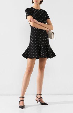 Женская кожаные туфли valentino garavani chain VALENTINO черного цвета, арт. SW2S0P37/XGN   Фото 2