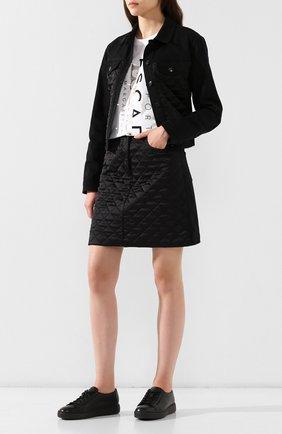 Женские кожаные кеды SANTONI черного цвета, арт. WBCE60442NEARAYLN01 | Фото 2