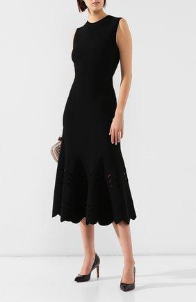 Женская кожаные туфли SANTONI черного цвета, арт. WDNT57627HI2RSZAN01 | Фото 2