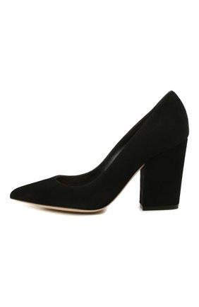 Женская замшевые туфли SERGIO ROSSI черного цвета, арт. A85322-MCAZ01 | Фото 2