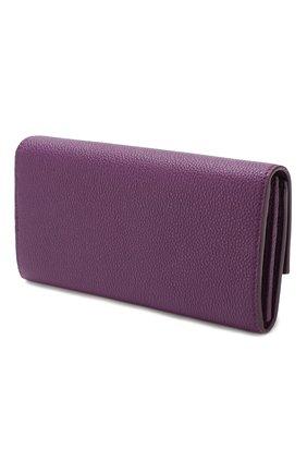 Женские кожаный кошелек SALVATORE FERRAGAMO фиолетового цвета, арт. Z-0716224 | Фото 2