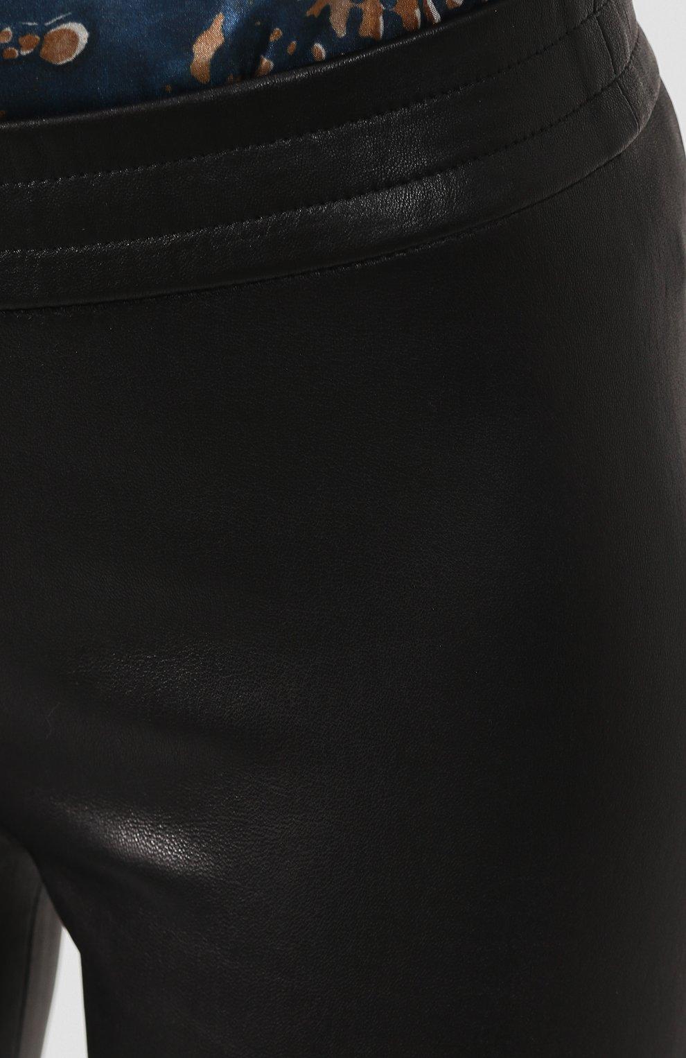 Женские кожаные леггинсы DROME черного цвета, арт. DPD1890P/D074P   Фото 5 (Женское Кросс-КТ: Леггинсы-одежда, Кожаные брюки; Длина (брюки, джинсы): Стандартные; Статус проверки: Проверено, Проверена категория; Стили: Кэжуэл)