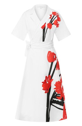 Женское хлопковое платье ESCADA SPORT белого цвета, арт. 5030726 | Фото 1