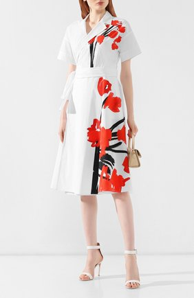 Женское хлопковое платье ESCADA SPORT белого цвета, арт. 5030726 | Фото 2