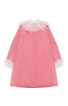 Детское шелковое платье BIBIONA розового цвета, арт. ABS21FW18,, | Фото 2
