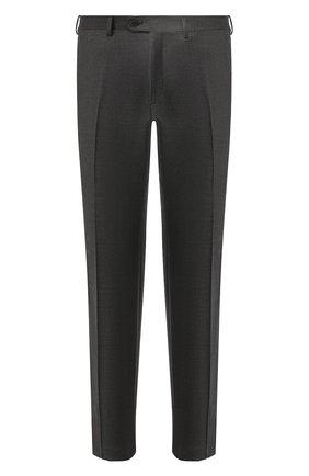 Мужской брюки из смеси шерсти и кашемира BRIONI серого цвета, арт. RPL20W/08AB9/M0ENA | Фото 1