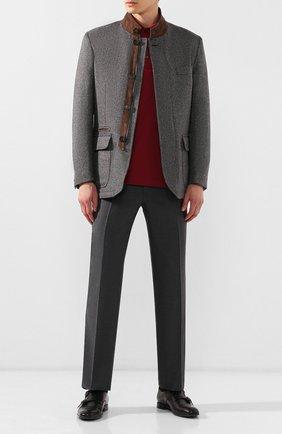 Мужской брюки из смеси шерсти и кашемира BRIONI серого цвета, арт. RPL20W/08AB9/M0ENA | Фото 2